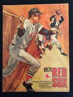 Red Sox 1971 Program vs NY Yankees Fenway Park (Vintage)  M1403