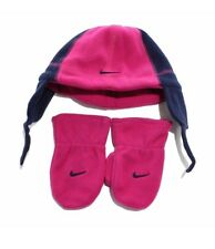 Nike Air Girls Pink Infant Hat Beanie and Gloves Set Size 2T - 4T