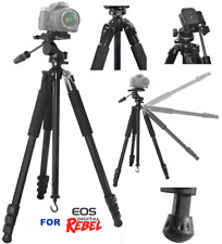 "80"" PROFESSIONAL TRIPOD ADJUSTABLE ANGLED LEGS FOR CANON EOS REBEL  T5 T6 T3 T1"