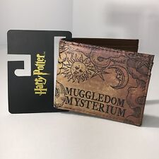 Harry Potter Billfold Bifold Wallet Brown Muggledom Mysterium Hogwarts Magic New