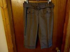 """Womens Studio 253 Size 8 Brown Dress Capri Pants """" BEAUTIFUL PAIR """""""