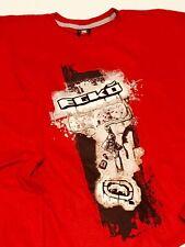"ECKO UNLTD. L/S ""Roller"" Tee sz XXL 2XL Men's Graphic T-Shirt Red OOP NEW NWT"