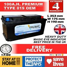 019 017 100ah High Power Calcium Car Van Battery -More Power AGM/EFB NOSTOPSTART