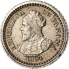 [#773918] Coin, Panama, 2-1/2 Centesimos, 1904, AU(50-53), Silver, KM:1