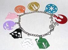 Star wars bracelet breloques en metal star wars characters charm metal bracelet