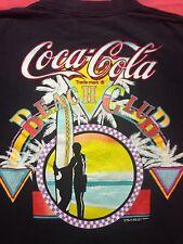 Vintage Coca-Cola Beach Club 2-sided T Shirt coke Sunset Beach Surfer Florida