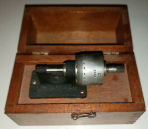 Early & Unusual Brown & Sharpe Micrometer, Large cylinder Fingerlap Dovetail Box