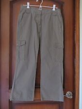 Calvin Klein Womens Green Olive Drab Capris / Cropped Cargo Rip Stop SZ 4 Mint