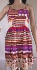 Colorful Abstract Sundress Small Corset Style Bohemian Striped Sexy Casual Dress