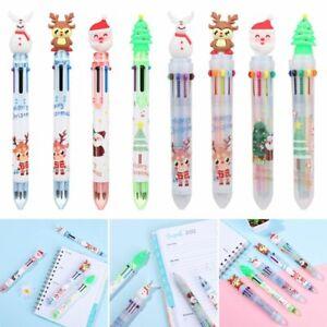 Decor Santa Claus Pen Merry Christmas Cartoon Ball-point Pen Xmas Stationery