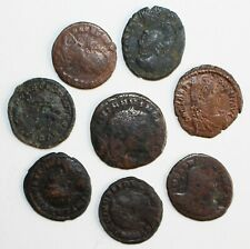 Lot of 8 Ancient Bronze Coins Greek Roman You Id Them Nice Details You Grade