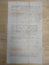 1843 LAND DEED REDDING CT. ZERAH & REBECCA HOYT ELIJAH JUDD ISAAC BARTRAM/TAYLOR