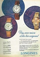 D- Publicité Advertising 1960 Les Montres Longines Jamboree Conquest Flagship