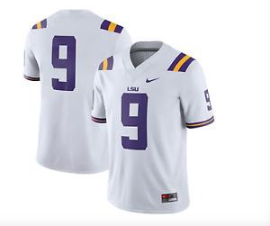 "Nike Men's LSU Tigers Joe Burrow #9 Limited Football Jersey White ""Sewn On"" NWT"