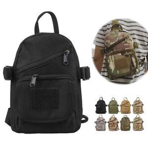 Men Molle Pouch Tactical Chest Shoulder Sling Bag Fanny Pack Cross Body Backpack