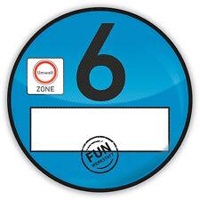 Haftfolie Euro 6 Plakette blau Umweltplakette Feinstaubplakette Spassplakette