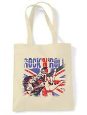 ROCK N ROLL UNION JACK SHOULDER BAG - Britpop Paul Weller Oasis Noel Gallagher