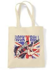 ROCK N ROLL UNION JACK SHOULDER BAG - Britpop Paul Weller Oasis Noel Gallagher