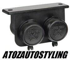 Twin Auxiliary Power Socket Accessory 12V & 24V 15amp  *Water Resistant* <NEW>