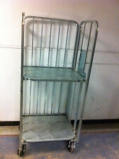 Galvanised Folding Roll Cage Trolley Heavy-Duty
