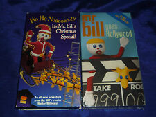 Lot of 2 Mr. Bill's VHS' (one sealed and new!) (VHS 1996 & 2001)