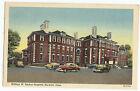 Norwich CT Conn William W Backus Hospital Linen Vintage Postcard