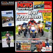 MOTO JOURNAL N°1858 BUELL 1125 CR MV AGUSTA 1078 RR BRUTALE GRAND PRIX MANS 2009