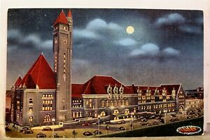Missouri MO St Louis Union Station Night Postcard Old Vintage Card View Standard