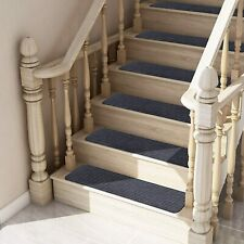 Stair Treads Set of 13 Indoor Non Slip/Skid Rubber Mats Pads Carpet Rugs - Gray