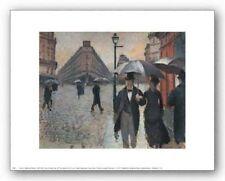 CITYSCAPE ART PRINT Paris a Rainy Day 1877 Gustave Caillebotte 10x8