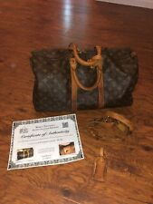 Authentic Louis Vuitton Vintage 45 Keepall Bandoulière Duffel Bag