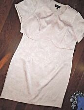 Connected pastel Peach Dress Jacket SUIT set size 24W  / 24 W