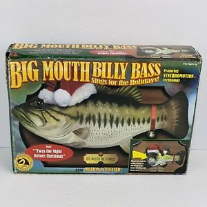 Big Mouth Billy Bass Sings For The Holidays Twas the Night Before Christmas NEW