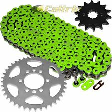 Green O-Ring Drive Chain & Sprockets Kit Fits KAWASAKI KSF400A KFX400 2003-2006