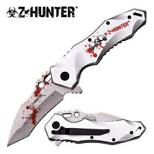 Z-Hunter Zombie Blood Skull Spring Action Assisted Assist Knife Knives #110SR