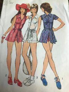 sz 12 vintage sewing pattern simplicity 5013 tennis dress shorty shorts