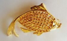 Fish ~ Brooch ~ Gold Tone~ Excellent