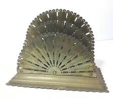 Antique Victorian Brass Letter Rack Reg. Number , Fan Design,1890-1891