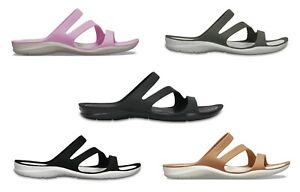 Crocs Womens Ladies Swiftwater Croslite Lightweight Slip Ons Sandals