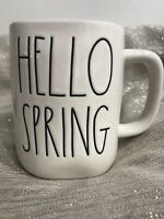 Rae Dunn HELLO SPRING Coffee Tea Mug Easter Collection Green Inside Brand New