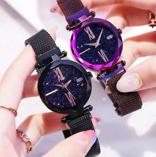 Damenarmbanduhr Damen Uhr Magnet-Armband Quarz Schwarz - Blau - Lila - Gold