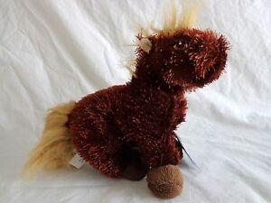Ganz Lil' Kinz HORSE HS103 Brown Beanbag Plush Webkinz No Code