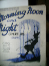 vintage music sheet book Morning Noon and Night overture suppe