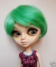 """Tangkou/Pullip 1/3 BJD SD Bambola 8-9"""" capelli corti parrucca verde"""