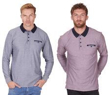 Men's Urban Release Reverse Stripe Polo Top | Long Sleeve Button Down Collar