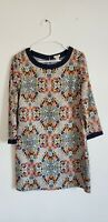 J.Crew Womens B3853 Misty Fog Floral Shift Dress Size 2