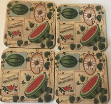 New Listing4 Longaberger Coasters With Watermelon And Watermelon Seeds And Seed Packs