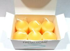 PartyLite 6 Votive Candles Fragrant Fresh Home Decorative New Opened Box