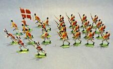 Soldats plats d'étain - Flat tin - 23 soldats armée danoise premier empire