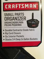 Craftsman Small Parts Organizer nails,bolts,screws,Tote Bag  6 inside pockets